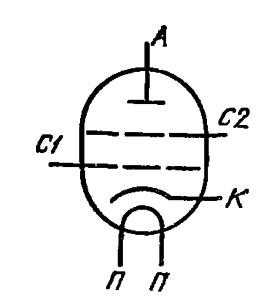 Схема соединения электродов лампы ГУ-84Б