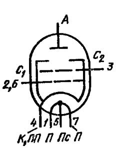 Схема соединения электродов лампы ГМИ-20