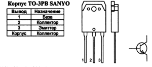 Корпус транзистора 2SC3688 и его обозначение на схеме