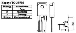Корпус транзистора 2SC4927 и его обозначение на схеме