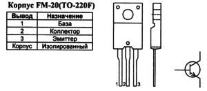 Корпус транзистора 2SC5249 и его обозначение на схеме