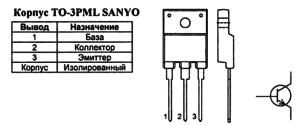 Корпус транзистора 2SC5297 и его обозначение на схеме
