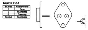 Корпус транзистора BU208A и его обозначение на схеме