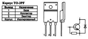 Корпус транзистора KSC5386 и его обозначение на схеме