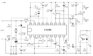 Регулировка скорости, макс. контроль нагрузки с отражающей оптопарой CNY70 в качестве излучателя