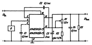 Схемы включения К142ЕН1(А — Г), К142ЕН2(А — Г) при использовании отдельного источника питания схемы управления
