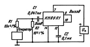Типовая схема включения ИМС К118УП1