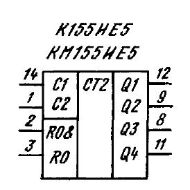 Условное графическое обозначение ИМС К155ИЕ5, КМ155ИЕ5