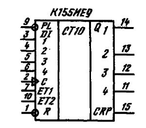 Условное графическое обозначение ИМС К155ИЕ9