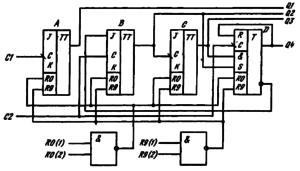 Функциональная схема ИМС К155ИЕ2, КМ155ИЕ2
