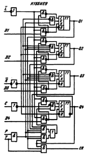 Функциональная схема ИМС К155ИЕ9