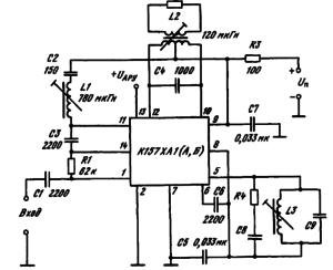 Типовая схема включения ИМС К157ХА1 (А,Б)