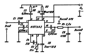 Типовая схема включения ИМС К157ХА2