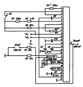 Типовая схема включения ИМС К157ХПЗ
