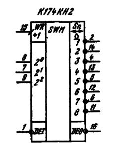 Условное графическое обозначение ИМС К174КН2