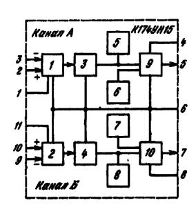 Структурная схема ИМС К174УН15