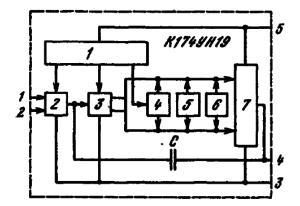 Структурная схема ИМС К174УН19