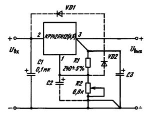 Типовая схема включения ИМС КР142ЕН12