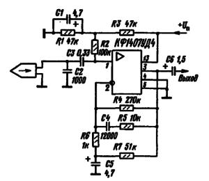 Принципиальная схема предварительного усилителя кассетного магнитофона