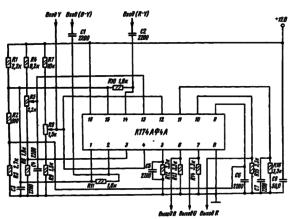 Типовая схема включения микросхемы К174АФ4А