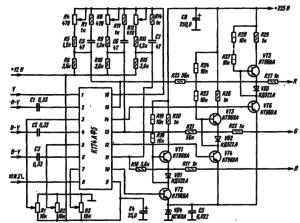 Типовая схема включения К174АФ5