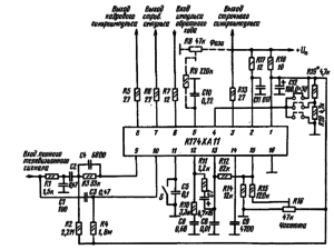 Типовая схема включения микросхемы К174ХА11