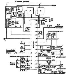 Типовая схема включения микросхемы К174ХА17