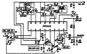 Типовая схема включения микросхемы К174ХА2