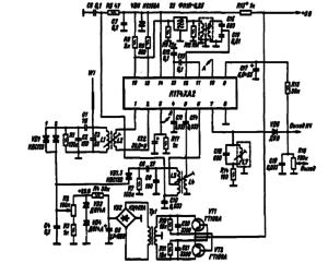Принципиальная схема малогабаритного КВ-приемника (22).