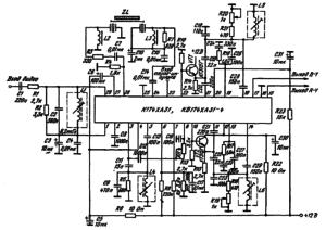 Типовая схема вклк?чення ИМС К174ХА31, КБ174ХА31-4 в качестве декодера сигналов цветности системы SECAM Z L — линия задержки УЛЗ 64 5 (ЯИЗ 836 006 ТУ) L1 — катушка индуктивности 8,2 мкГн ± 5% (/о = =4,286 МГц, сердечник СС13В41 8), L2 — дроссель ДПМ 0,6 5, L3 — катушка индуктивности КЖ 5 760 157 0,2, L4 — 20 витков, /о= 4,328 МГц, L5 — 64 витка, /о = 4,25 МГц, L6 — 64 витка, /о = 4,406 МI а
