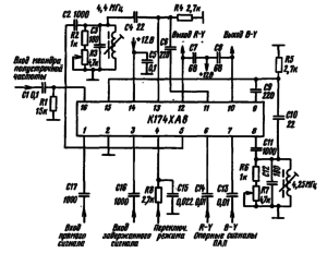 Типовая схема включения микросхемы К174ХА8