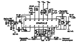Типовая схема включения микросхемы К174УР2