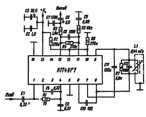 Типовая схема включения микросхемы К174УР7