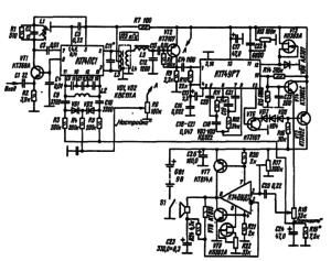Принципиальная схема УКВ-ЧМ приемника с низкой промежуточной частотой