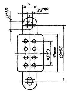 Маркировка выводов реле РЭС52 исполнения РС4.555.020-01
