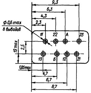 Маркировка выводов реле РЭС60