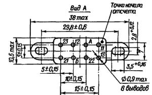 Маркировка выводов реле РЭС90 (с угольниками)
