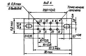 Конструктивные данные реле РЭС90 (с рамкой) исполнений ЯЛ4.550. Я Л 4.550.000-31 - ЯЛ 4.550.000-41