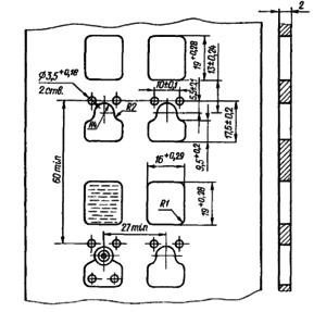 Разметка для крепления реле РСЧ52