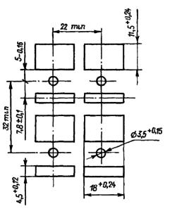 Разметка для крепления реле РЭС32
