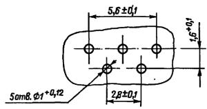 Разметка для крепления реле РЭС49