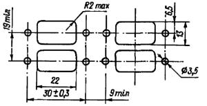 Разметка для крепления реле РЭС54Б