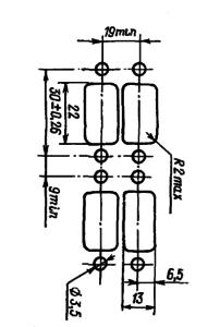 Разметка для крепления реле РЭС59Б