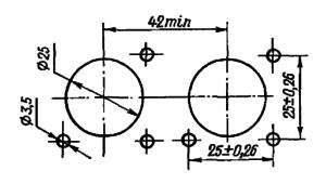 Разметка для крепления реле РЭС59В