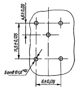 Разметка для крепления реле РЭС78