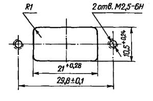 Разметка для крепления реле РЭС90 (С угольниками)