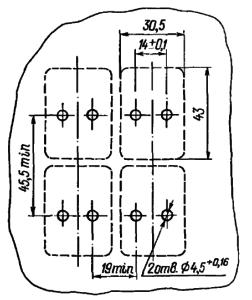 Разметка для крепления реле РЭН29