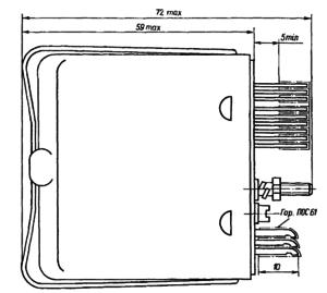 Конструктивные данные реле РСЧ52