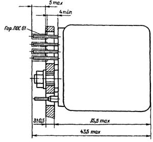 Конструктивные данные реле РЭС32