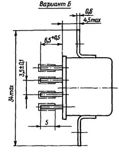 Конструктивные данные реле РЭС52 исполнения РС4.555.020-01